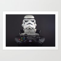 xbox Art Prints featuring Because XBox One by InkBlot