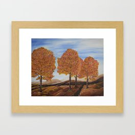 Fall trees Framed Art Print