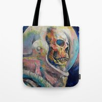 astronaut Tote Bags featuring Astronaut by Michael Creese