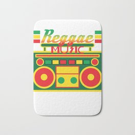 Fan of Reggae Music? Wear it anytime you want with this awesome colorful and creative tee design! Bath Mat