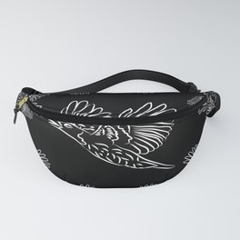 World crows. Crows in different framework, round, square. Fanny Pack