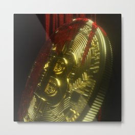Bitcoin Blood Metal Print