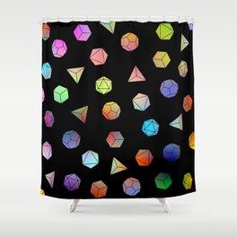 Platonic solids II Shower Curtain