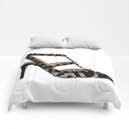 Leopard Valentino Rockstud pumps fashion illustration pink  Comforters