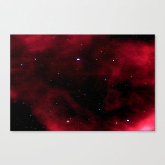 Nebula Red Canvas Print