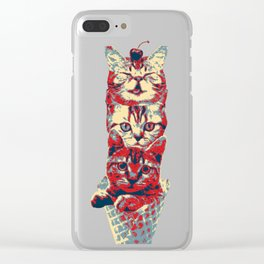 Ice cream cats Clear iPhone Case