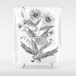 Natural snake Shower Curtain