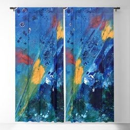 Views of Rainbow Coral, Tiny World Collection Blackout Curtain