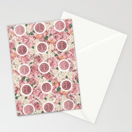 Double Happiness Symbol on Gentle Peony pattern Stationery Cards