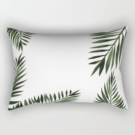 Watercolor tropical palm leaves Rectangular Pillow
