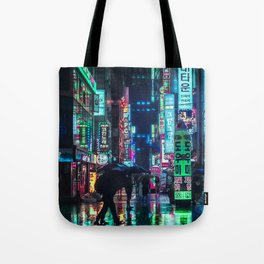 Neon in the Night Tote Bag