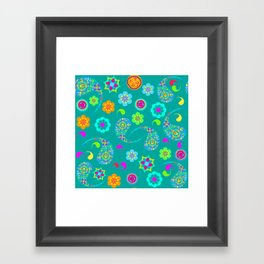 Green Paisley № 5 Framed Art Print