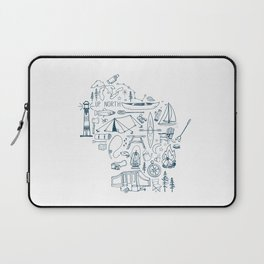 Wisconsin Up North Collage Laptop Sleeve