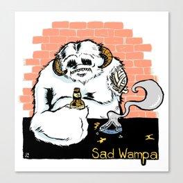 Sad Wampa Canvas Print