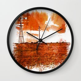 West Texas Windmill Wall Clock