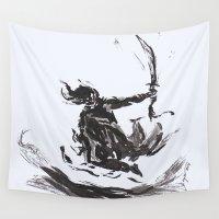 samurai Wall Tapestries featuring Samurai  by soetam