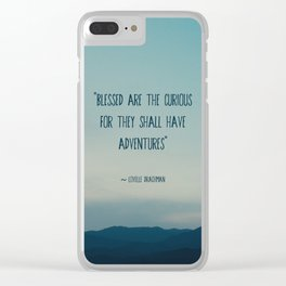 blessed are the curious ... Clear iPhone Case