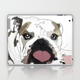 English Bulldog Love Laptop & iPad Skin
