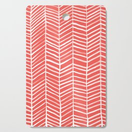 Coral Herringbone Cutting Board