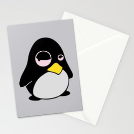LAZY LINUX TUX PENGUIN Stationery Cards