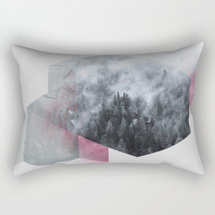 Exagonal Winter Rectangular Pillow