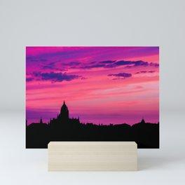 Cathedral of Segovia at Sunset Mini Art Print