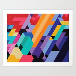 Flat Geometry 01 Art Print