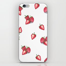 Strawberry Pattern iPhone Skin