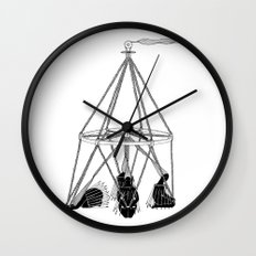 Wind Wand Wall Clock