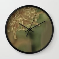 champagne Wall Clocks featuring Champagne by Nicole Stamsek