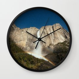 Yosemite Falls Night Wall Clock