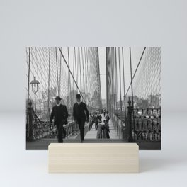 Brooklyn Bridge - Vintage New York - 1910 Mini Art Print