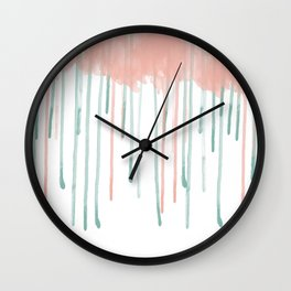Watercolour rain Wall Clock