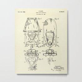 Tennis Ball Receptacle-1938 Metal Print