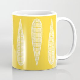 Golden Gum Leaves Coffee Mug