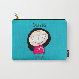 Good Vibes #happywoman Carry-All Pouch