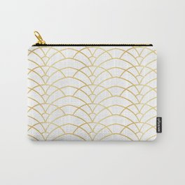 Art Deco Series - Gold & White Carry-All Pouch