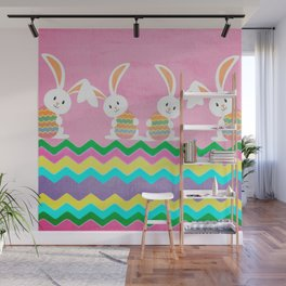Easter Chevron Pattern Wall Mural