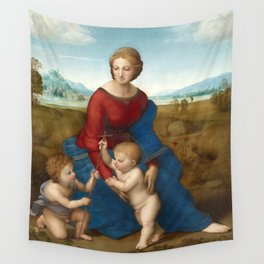 Raphael - Madonna in the Meadow Wall Tapestry