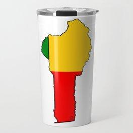Benin Map with Flag of Benin Travel Mug