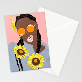 Believe in Yo Juice - Digital Black Goddess Vector Drawing Stationery Cards