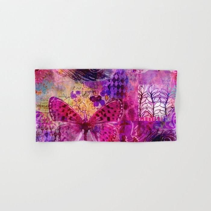 Butterflies Dream In Pink Hand & Bath Towel