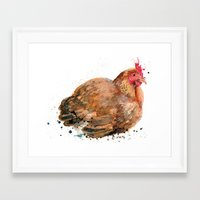chicken Framed Art Prints featuring Chicken by Suzie Foster