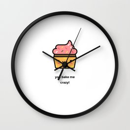 JUST A PUNNY CUPCAKE JOKE! Wall Clock