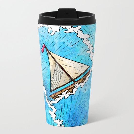 Let's Go Sailing Metal Travel Mug