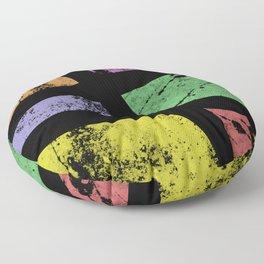 Dusty Textures - Abstract, pastel artwork Floor Pillow