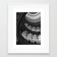 house of cards Framed Art Prints featuring House of Cards by T & K Arts