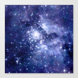 Cobalt Dreams, Universe Stars Space Nebula Canvas Print