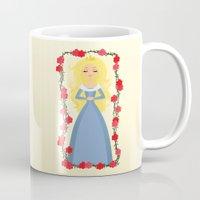 sleeping beauty Mugs featuring Sleeping Beauty by Sara Showalter