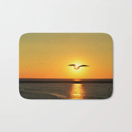 Icarus Vacationing in San Diego, California  Bath Mat
